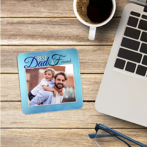 Personalised Photo Coaster N12 - Birthday, Christmas, Fathers Day Gift - BEST DAD FRIEND